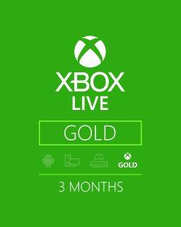 Xbox Live Gold 3 Měsíce