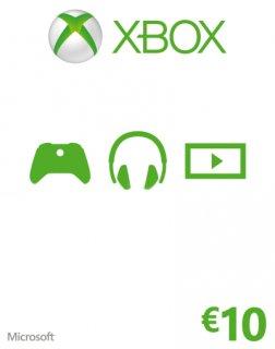 Xbox Live 10 EUR krabice