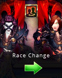 World of Warcraft Race Change krabice