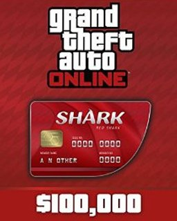 Grand Theft Auto V Online Red Shark Cash Card 100,000$ GTA 5
