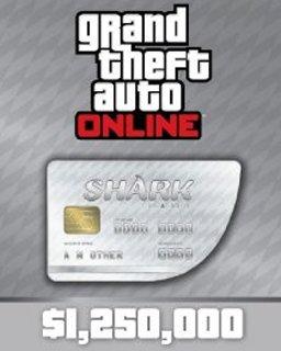 Grand Theft Auto V Online Great White Shark Cash Card 1,250,000$ GTA 5 krabice