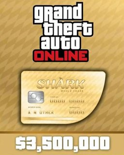 Grand Theft Auto V Online Whale Shark Cash Card 3,500,000$ GTA 5 krabice