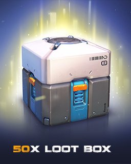 Overwatch 50 Loot Box krabice