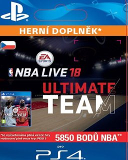 NBA Live 18 Ultimate Team 5850 Points