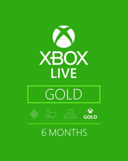 Xbox Live Gold 6m EU,US