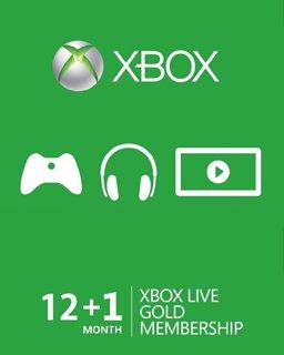 Xbox Live Gold 12+1m EU,US