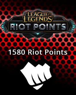 LOL Riot Points 1580 EU krabice