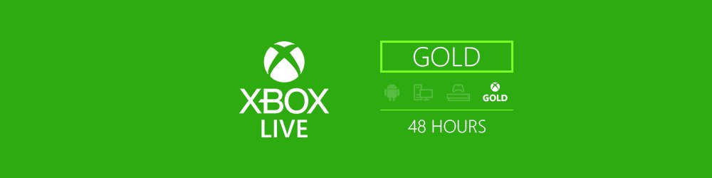 Xbox Live Trial Gold 48h EU,US banner