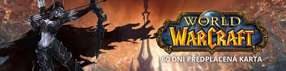 World of Warcraft EU 60 Dní předplacená karta banner