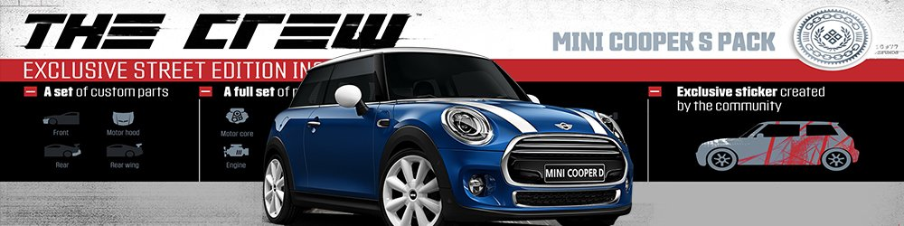 The Crew Mini Cooper S Pack banner