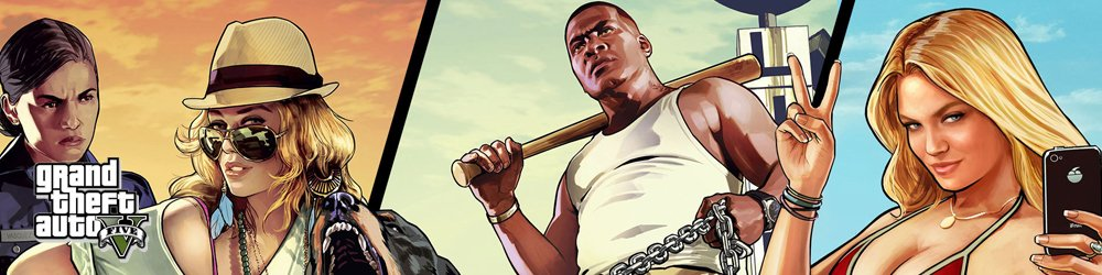 Grand Theft Auto V, GTA 5 Steam banner