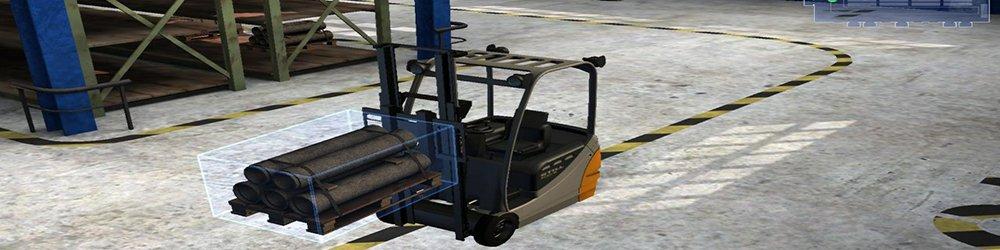 Simulátor skladu Vysokozdvižný vozík banner