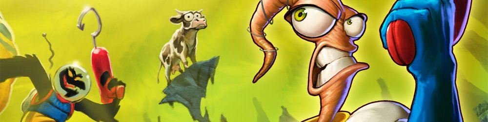Earthworm Jim 1+2 The Whole Can 'O Worms banner