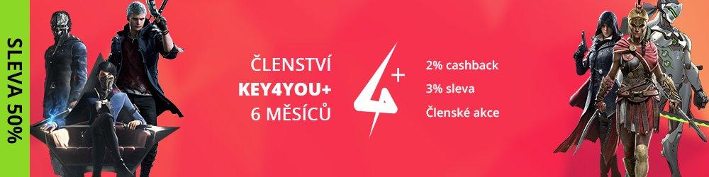 Key4You+ Členství (6 měsíců) banner