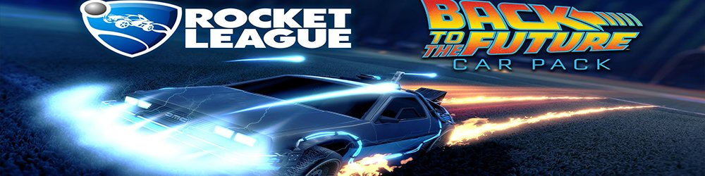 Rocket League Back to the Future Car Pack banner