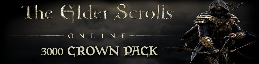 Elder Scrolls Online Tamriel Unlimited  3000 Crown Pack banner