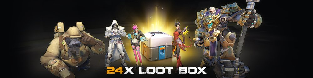 Overwatch 24 Loot Box banner