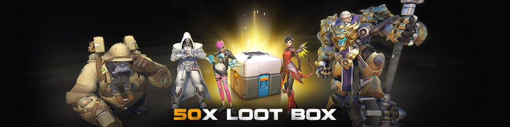 Overwatch 50 Loot Box banner