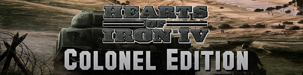 Hearts of Iron IV Colonel Edition banner