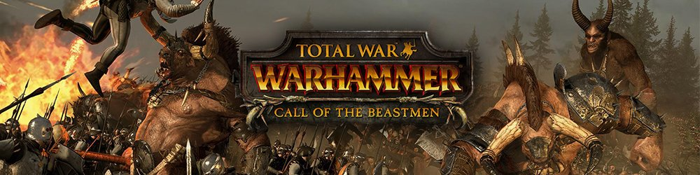 Total War WARHAMMER Call of the Beastmen DLC banner