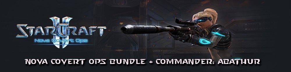 StarCraft 2 Nova Covert Ops bundle + Commander Abathur banner