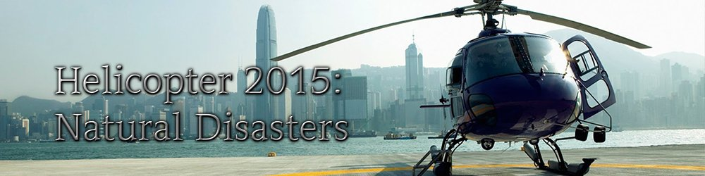 Helicopter 2015 Natural Disasters banner
