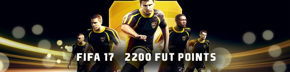 FIFA 17 2200 FUT Points banner