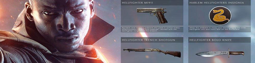 Battlefield 1 Hellfighter Pack DLC banner
