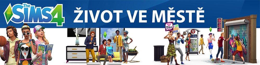 The Sims 4 Život ve městě banner