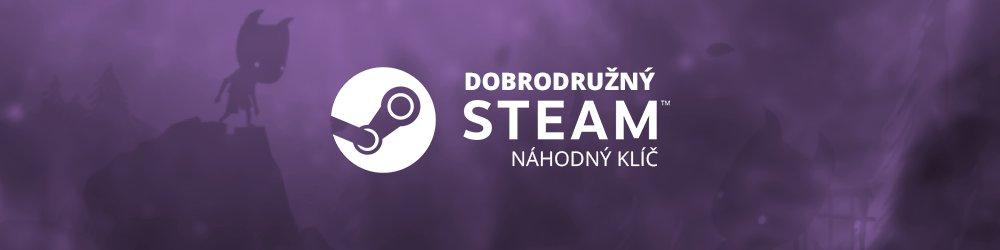Dobrodružný náhodný steam klíč banner