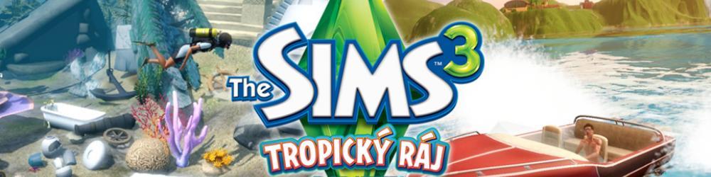The Sims 3 Tropický Ráj banner
