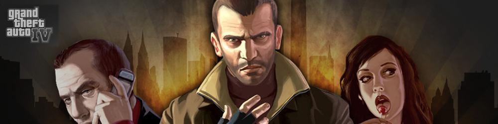 Grand Theft Auto IV, GTA 4 banner