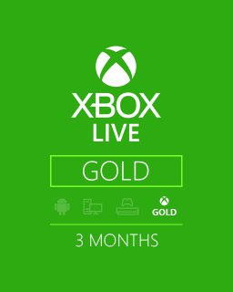Xbox Live Gold 3m EU,US