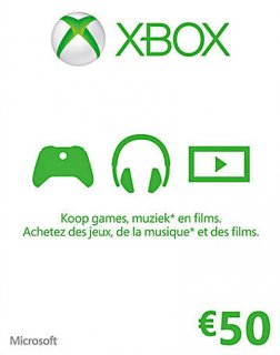 Xbox Live 50 EUR krabice