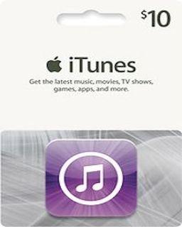 iTunes 10 USD krabice