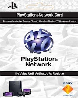 Playstation Network Card 20 USD krabice
