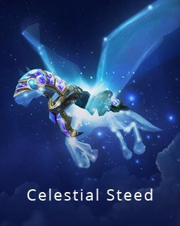 World of Warcraft Celestial Steed krabice