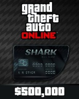 Grand Theft Auto V Online Bull Shark Cash Card 500,000$ GTA 5 krabice