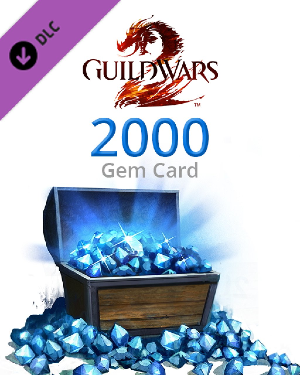 Guild Wars 2 2000 Gem Card