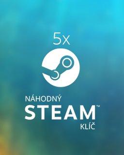 5x Náhodný steam klíč krabice