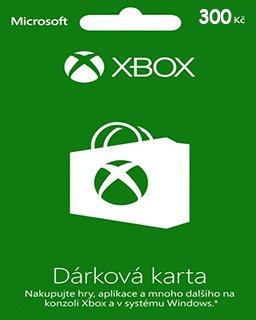 Microsoft Xbox live Dárková karta 300 kč krabice