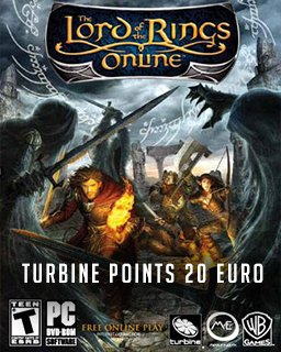 The Lord of the Rings Online Turbine points 20 Euro krabice