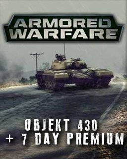 Armored Warfare Objekt 430 + 7 day Premium krabice