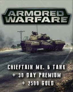 Armored Warfare Chieftain Mk. 6 Tank + 30 day Premium + 2500 Gold