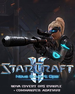 StarCraft 2 Nova Covert Ops bundle + Commander Abathur krabice