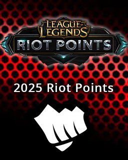 LOL Riot Points 2025 EU krabice