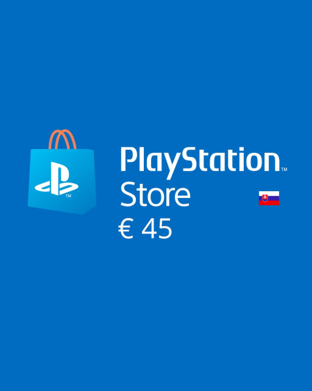 PlayStation Live Cards 45 Euro krabice