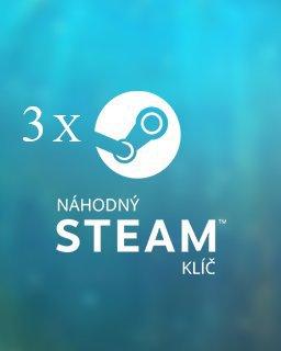3x Náhodný steam klíč