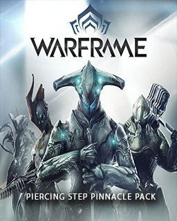 Warframe Piercing Step Pinnacle Pack krabice