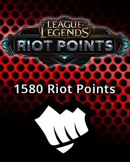 LOL Riot Points 1580 EU
